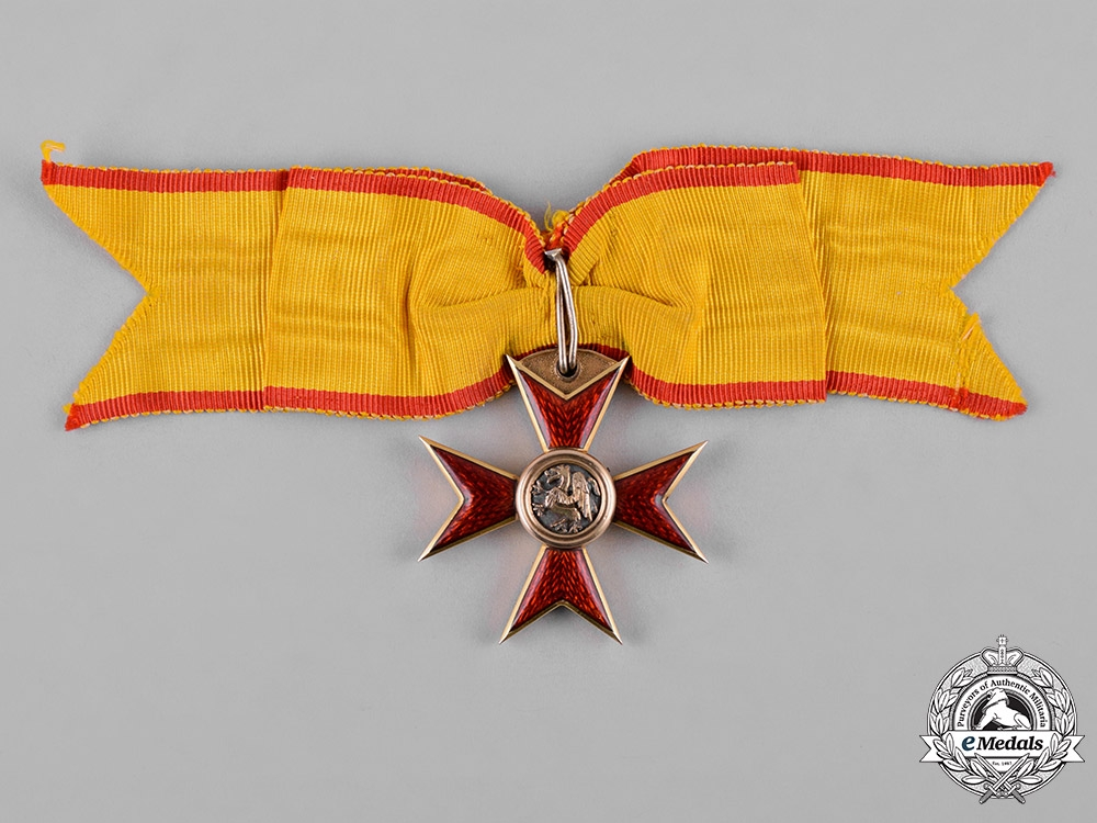eMedals-Mecklenburg-Schwerin, Grand Duchy. A Unique Russian Made Order of the Griffon in Gold, by D.I. Osipov