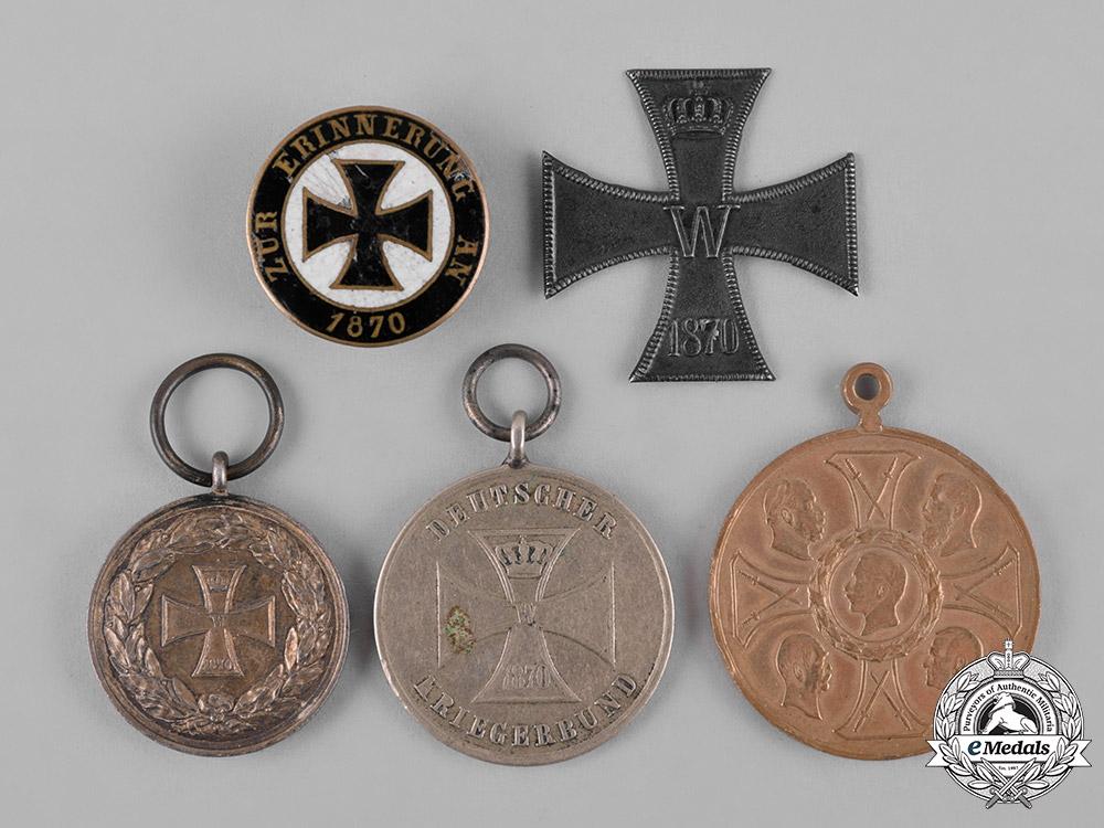 eMedals-Germany, Imperial. A Lot of Franco-Prussian War Commemorative Medals