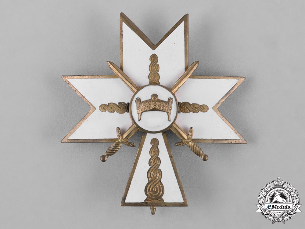 eMedals-Croatia, Independent State. An Order of the Crown of King Zvonimir, II Class Cross with Swords, c.1942