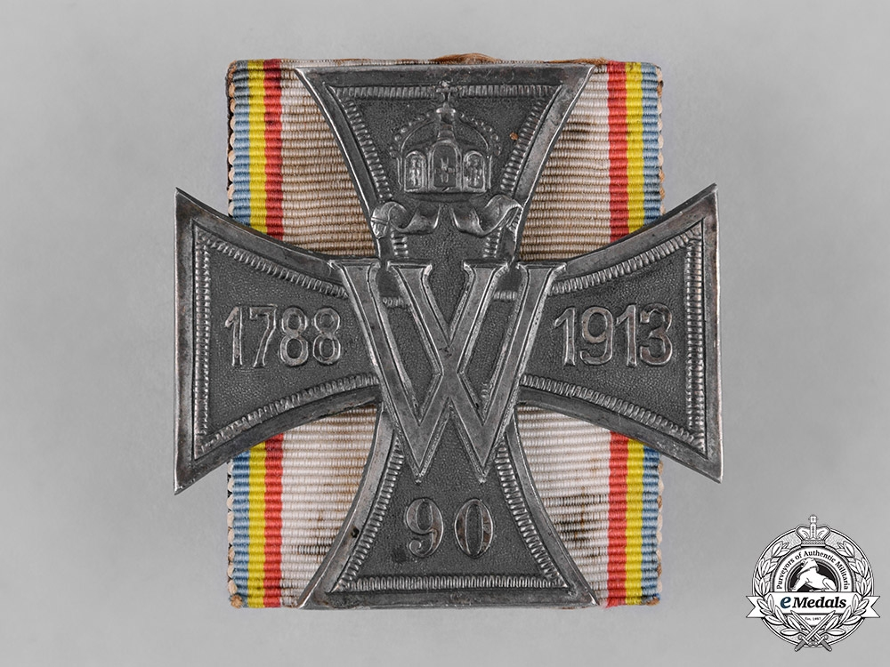 eMedals-Mecklenburg-Schwerin, Grand Duchy. A Cross for the 125th Anniversary of 90th Fusiliers Regiment of Kaiser Wilhelm