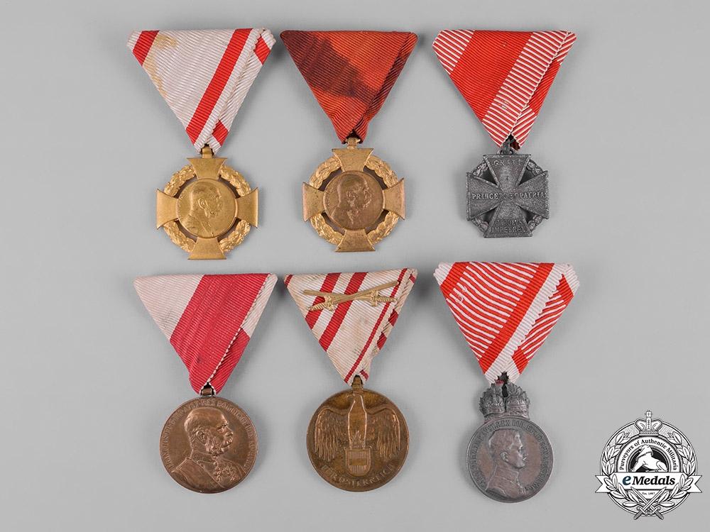 eMedals-Austria, Imperial. A Lot of Medals & Awards, c.1916