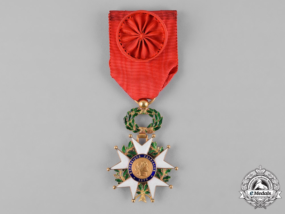 eMedals-France, III  Republic. A National Order of the Legion of Honour in Gold, IV Class Officer, c.1955