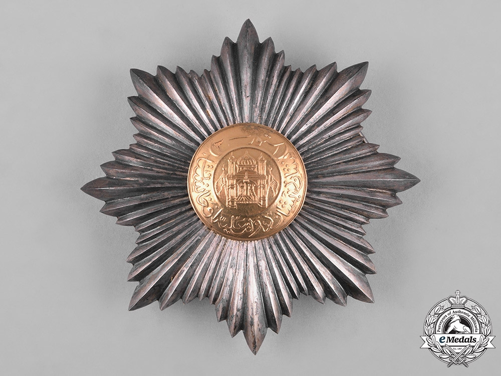 eMedals-Afghanistan, Kingdom. An Order of the Star, II Class Grand Officer, with Award Document, c.1928