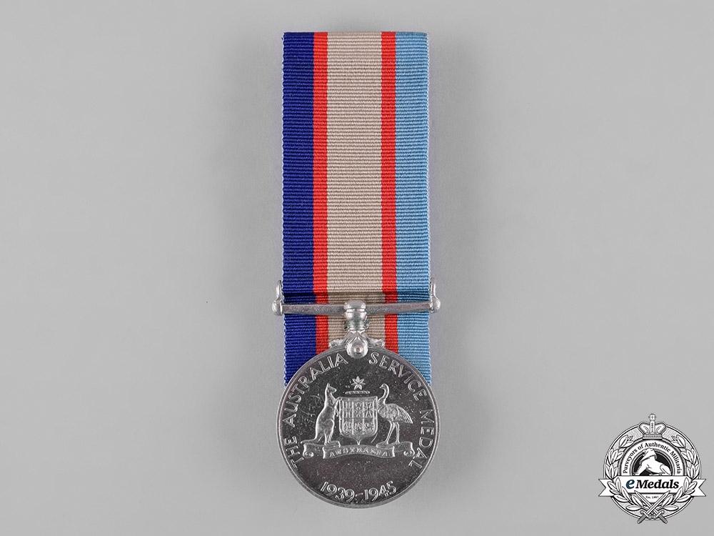 eMedals-Australia. A Second War Service Medal 1939-1945, to L.T. Foord