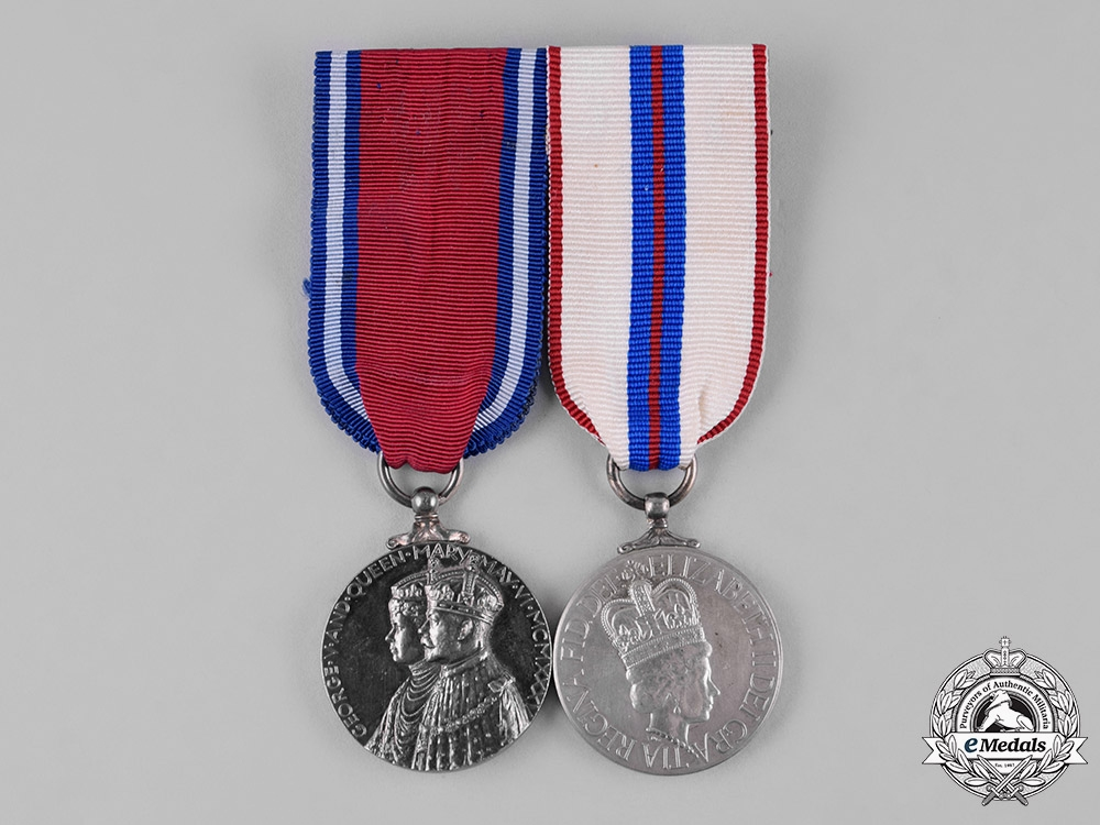 eMedals-Canada. A Silver Jubilee & Coronation Medal Pair