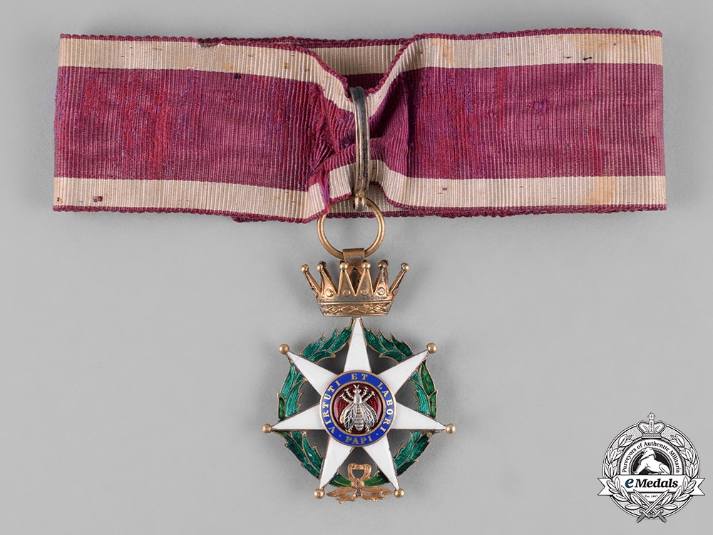 eMedals-France, III Republic. An Order of the Honey Bee, Commander, c.1920