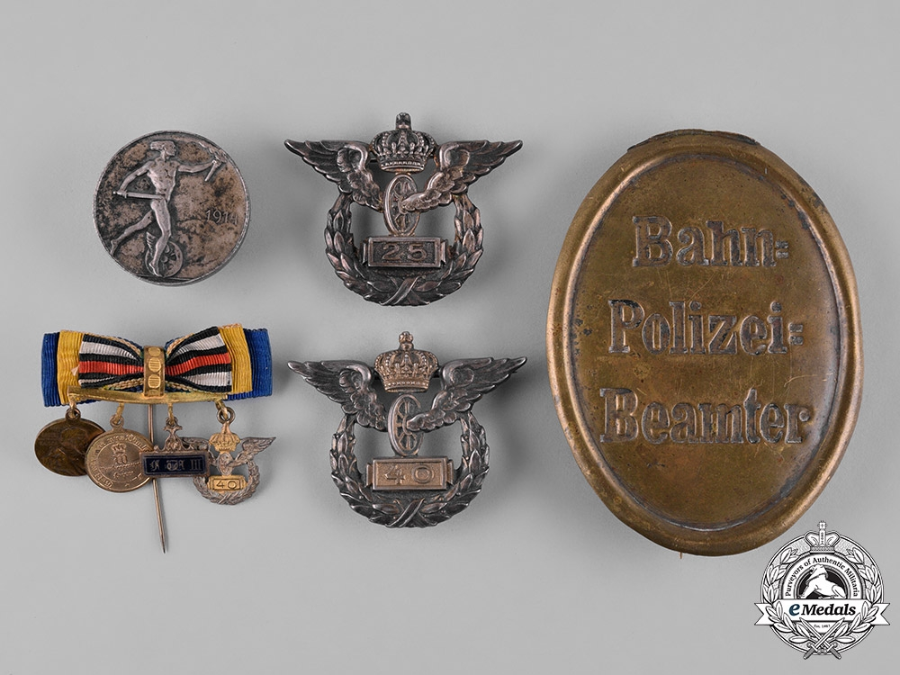 eMedals-Germany, Imperial. A Prussian Railway Service Grouping