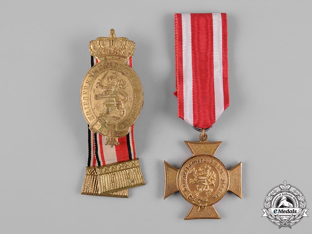 eMedals-Germany, Imperial. A Pair of Hesse Veteran's Association Badges