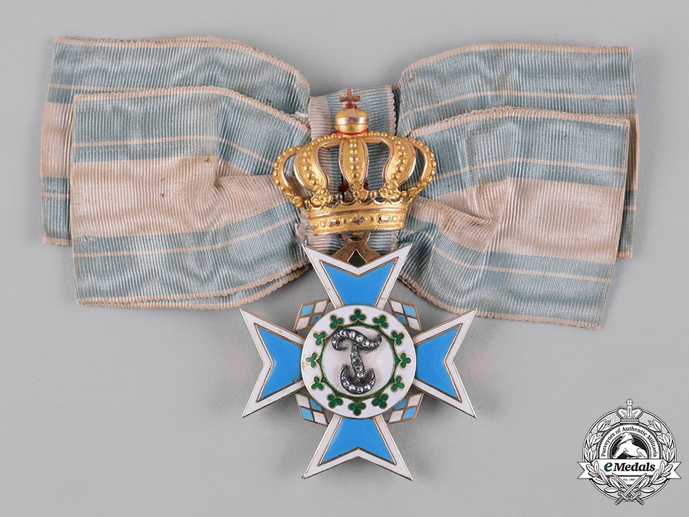 eMedals-Bavaria, Kingdom. An Order of Theresa in Gold, Order-Cross with Diamonds, c.1880