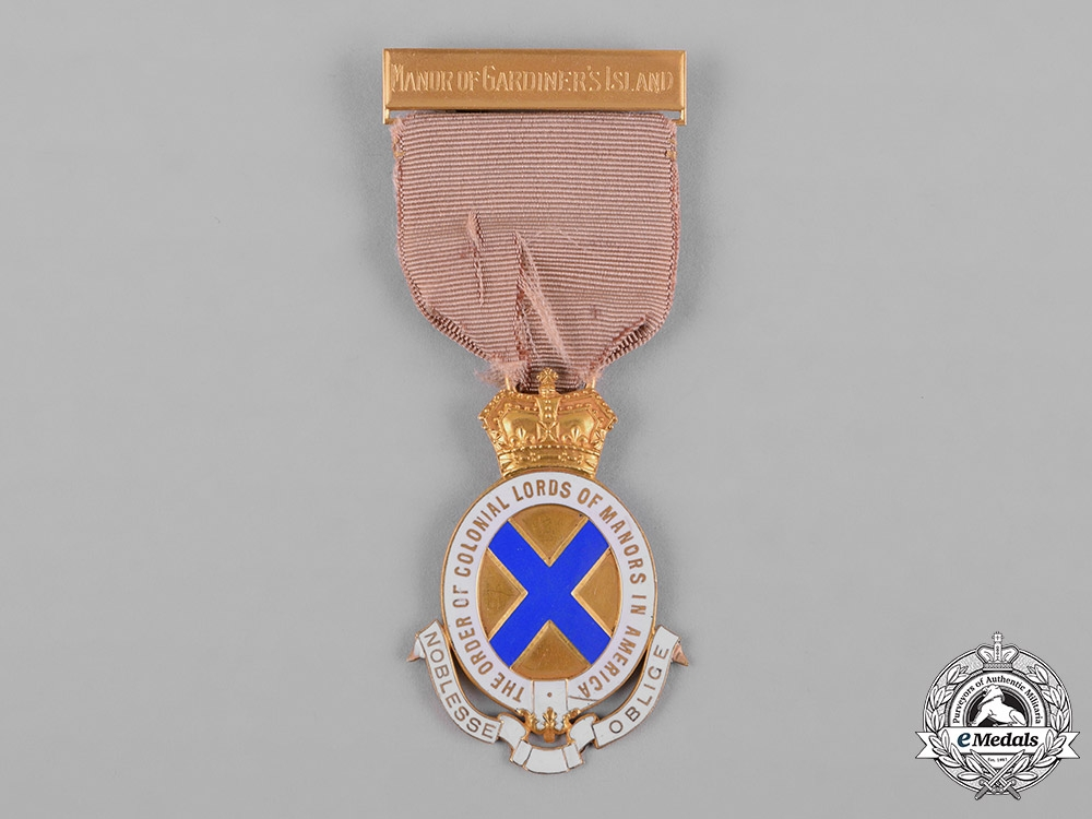 eMedals-United States. The Order of Colonial Lords of Manors in America Medal in Gold, c.1918