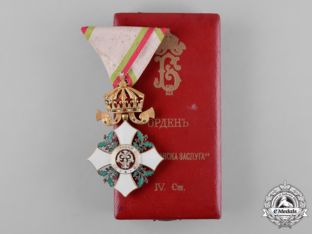 eMedals-Bulgaria, Kingdom. National Order for Civil Merit, IV Class Officer, c.1935