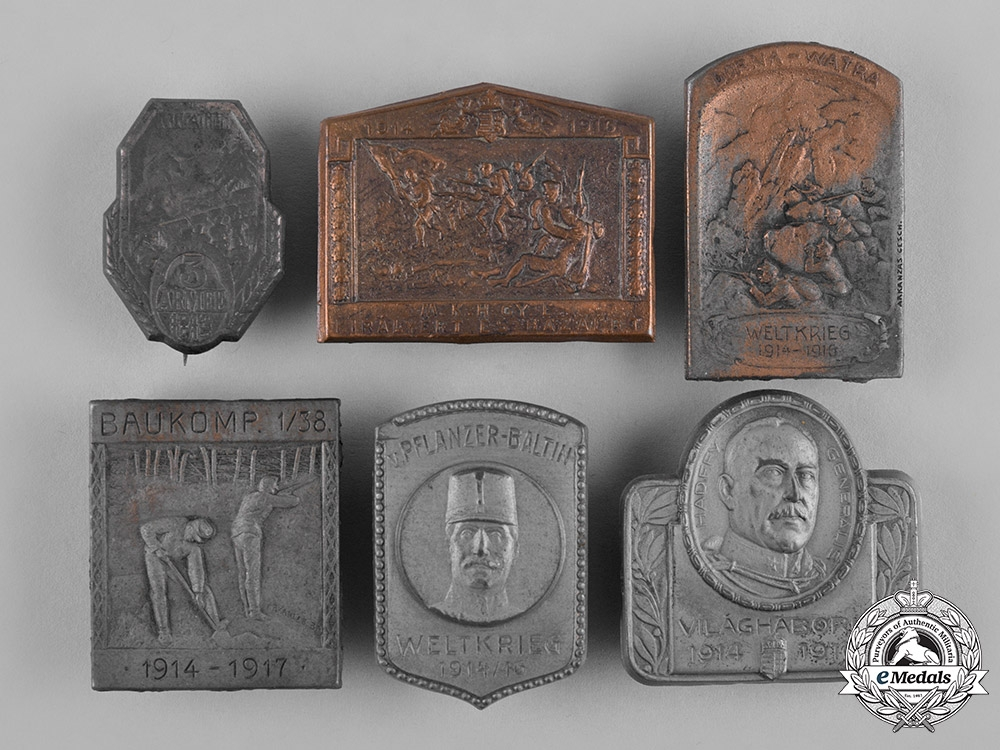 eMedals-Austria, Imperial. A Group of First War Period Commemorative Badges