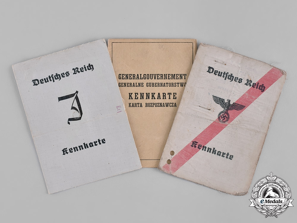 eMedals-Germany, Third Reich. A Lot of Five Third Reich Period Civil Identification Cards