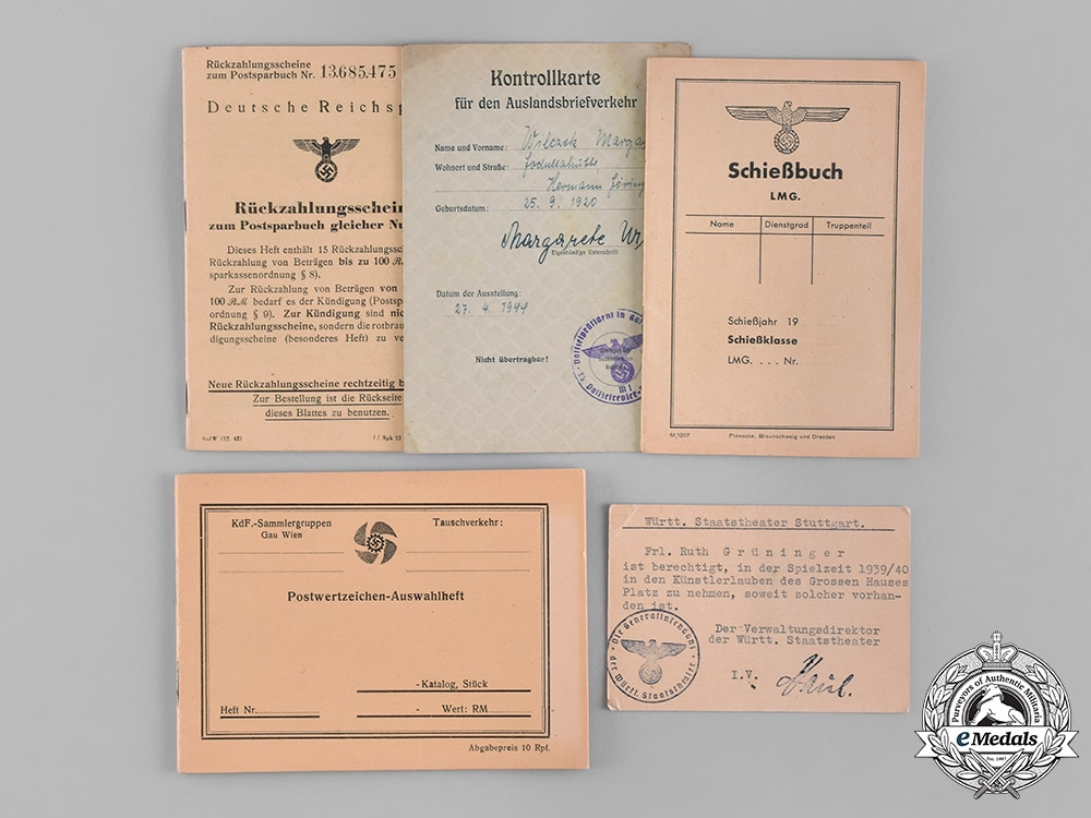 eMedals-Germany, Third Reich. A Collection of Documents Belonging to Heinz Gerhard Krüger