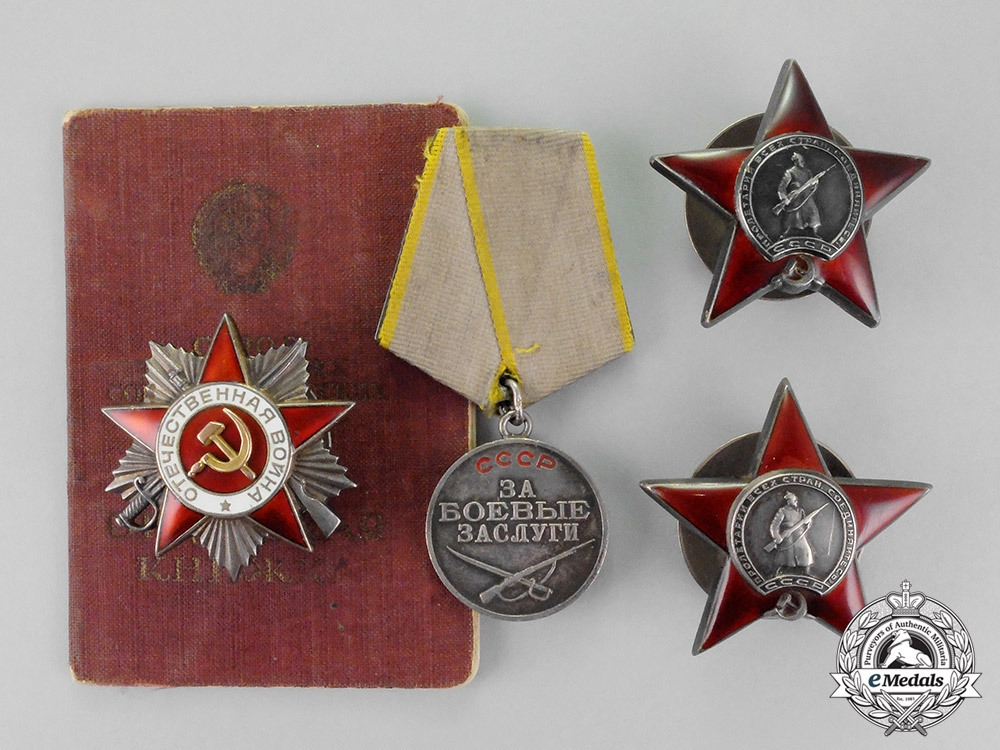 eMedals-Russia, Soviet Union. An Order of the Patriotic War Veterans Award Group