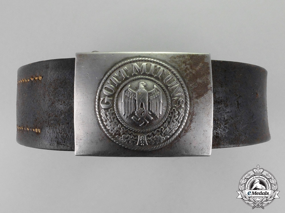 eMedals-Germany. A Wehrmacht Heer (Army) Standard Issue EM/NCO's Belt and Buckle