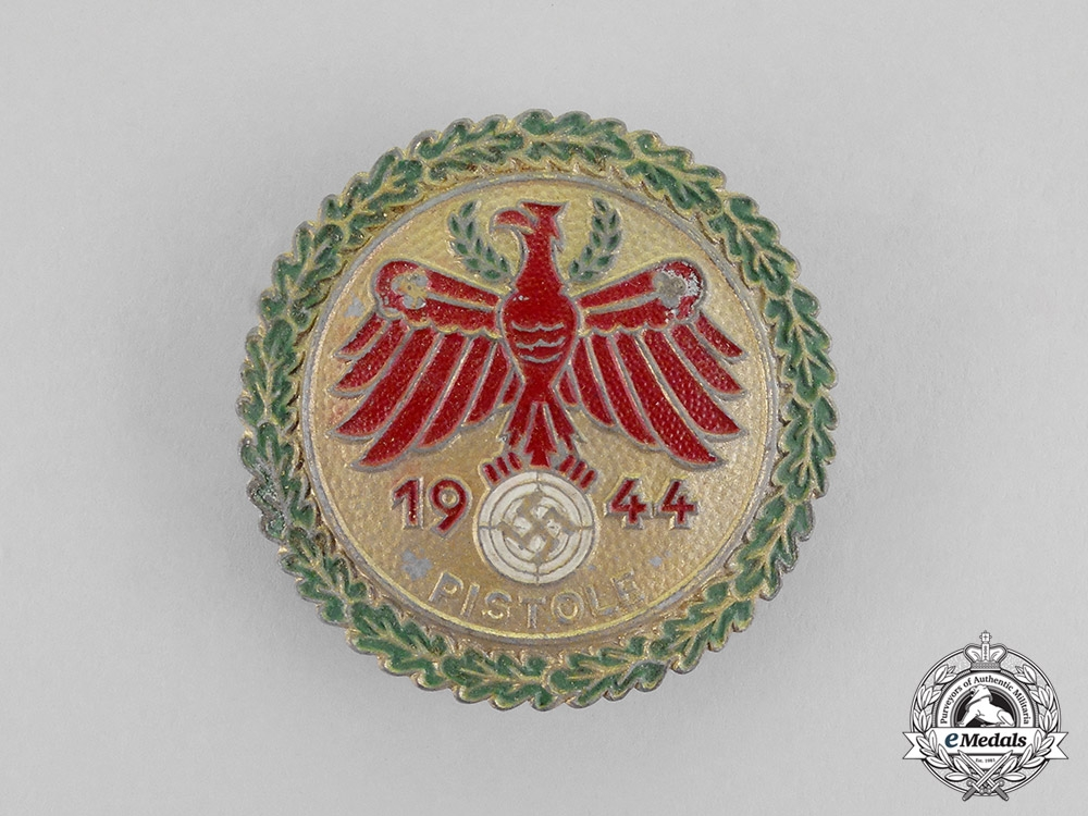 eMedals-Germany. A Mint 1944 Tirol Pistol Shooting Competition Badge