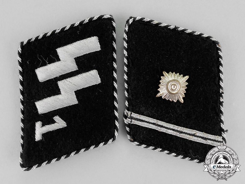 """eMedals-Germany. A Set of 1934-1940 SS Scharführer Rank """"Standarte Deutschland"""" Collar Tabs; Type II"""