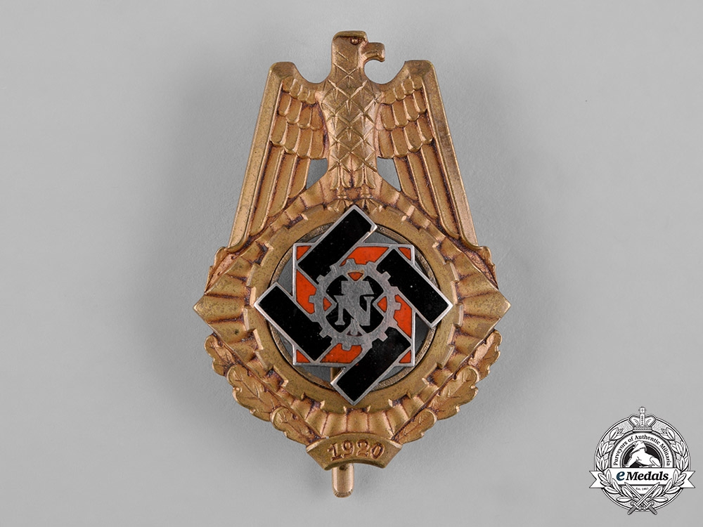 eMedals-Germany, Third Reich. A Technische Nothilfe (Technical Emergency Help) Service Honour Badge by Wilhelm Fühner