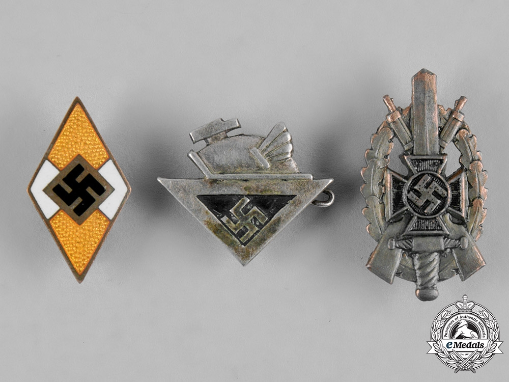 eMedals-Germany, Third Reich. A Lot of Third Reich Period Badges
