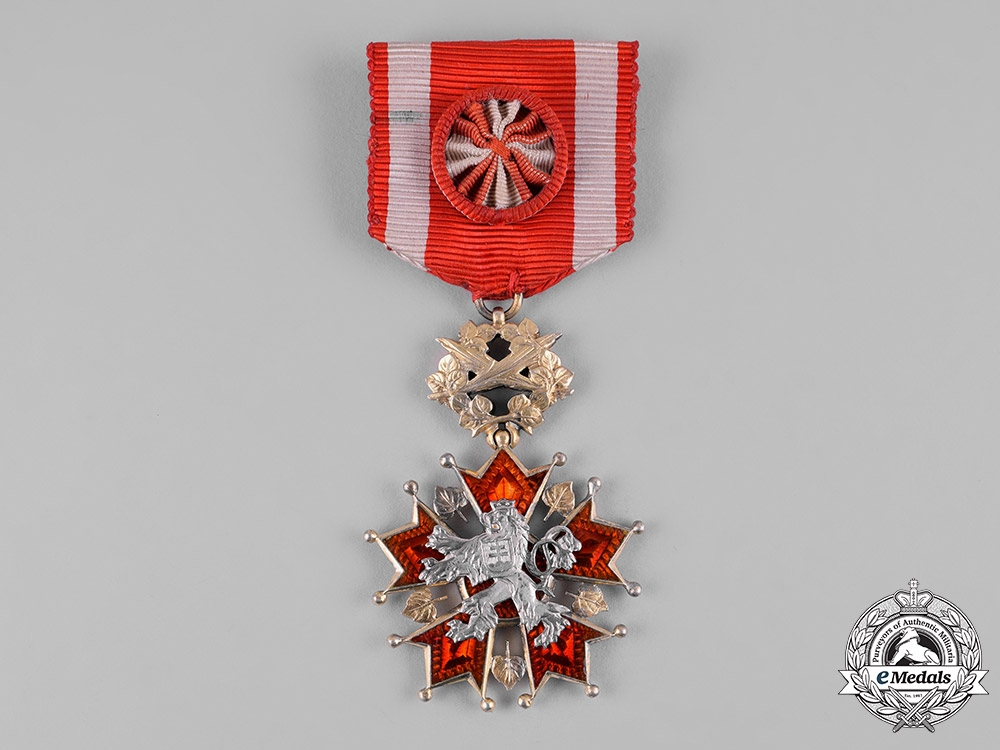 eMedals-Czechoslovakia, Republic. A Order of the White Lion, IV Class Officer, by Karnet & Kysely, c.1925