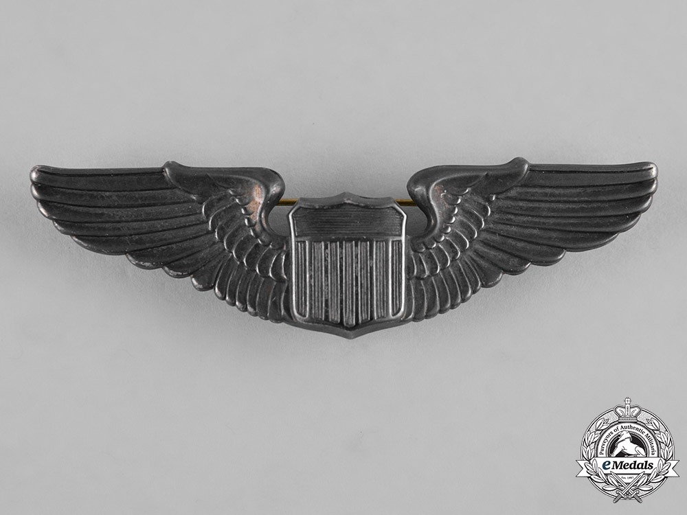 eMedals-United States. A Second War Army Air Force Pilot Badge, c.1940