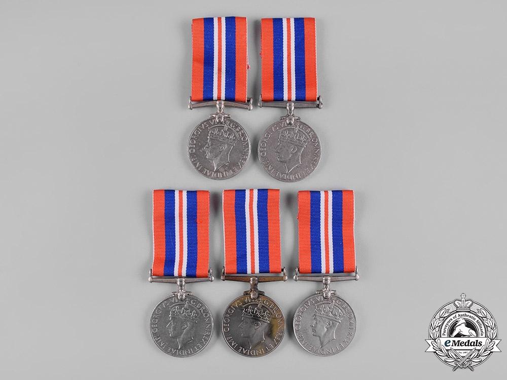 eMedals-United Kingdom. A Second War Lot of Five War Medals 1939-1945