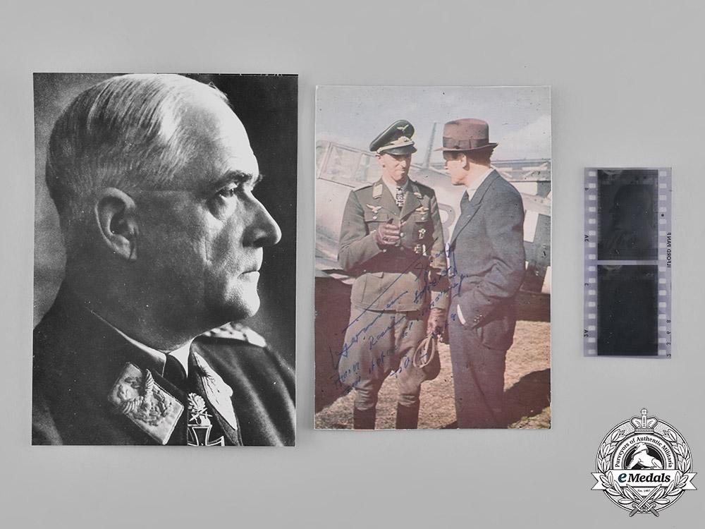 eMedals-Germany, Luftwaffe. A Pair of Photographs of Robert Ritter von Greim and Hermann Graf