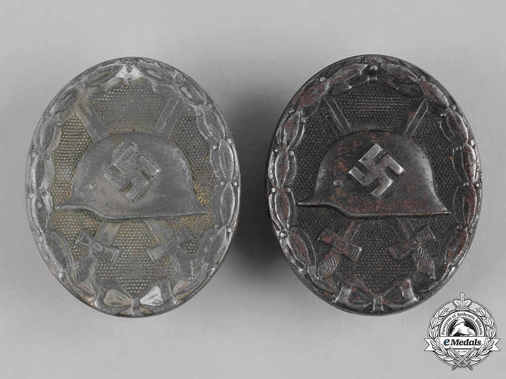 eMedals-Germany, Wehrmacht. A Pair of Wound Badges