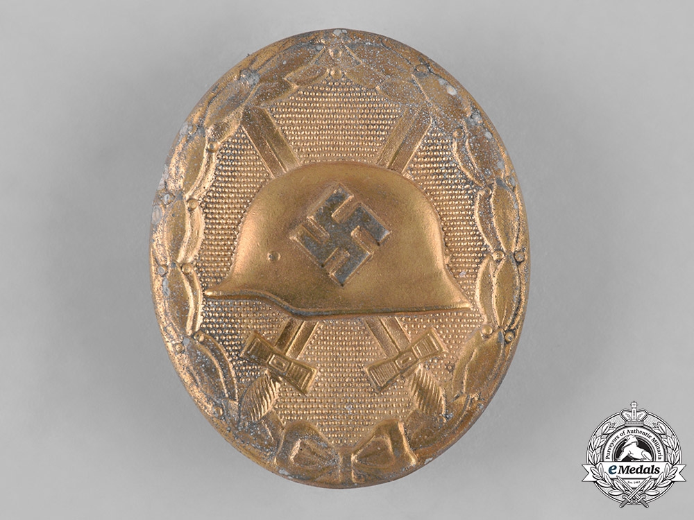 eMedals-Germany, Wehrmacht. A Wound Badge, Gold Grade, by Paul Meybauer