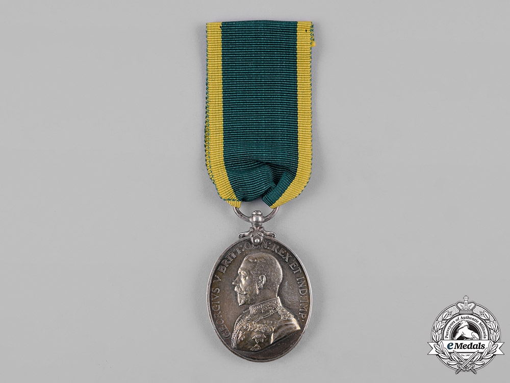 eMedals-United Kingdom. A Territorial Force Efficiency Medal, North Midlands Field Ambulance