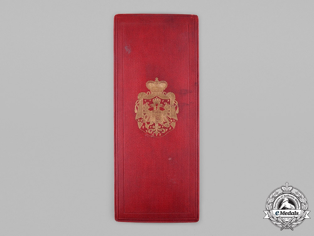 eMedals-Montenegro, Kingdom. An Order of Danilo, Grand Officer Case, by  V. Mayers Söhne
