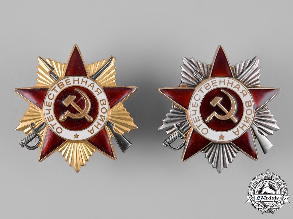 eMedals-Russia, Soviet Union. A Pair of Orders of the Patriotic War