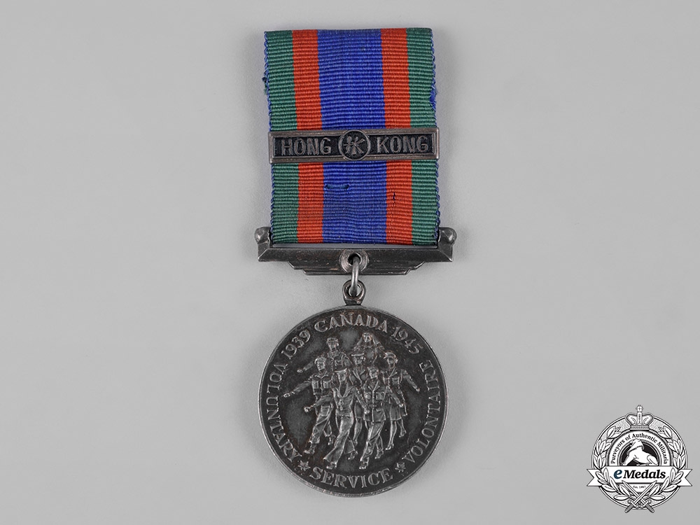 eMedals-Canada. A Canadian Volunteer Service Medal with Honk Kong Clasp