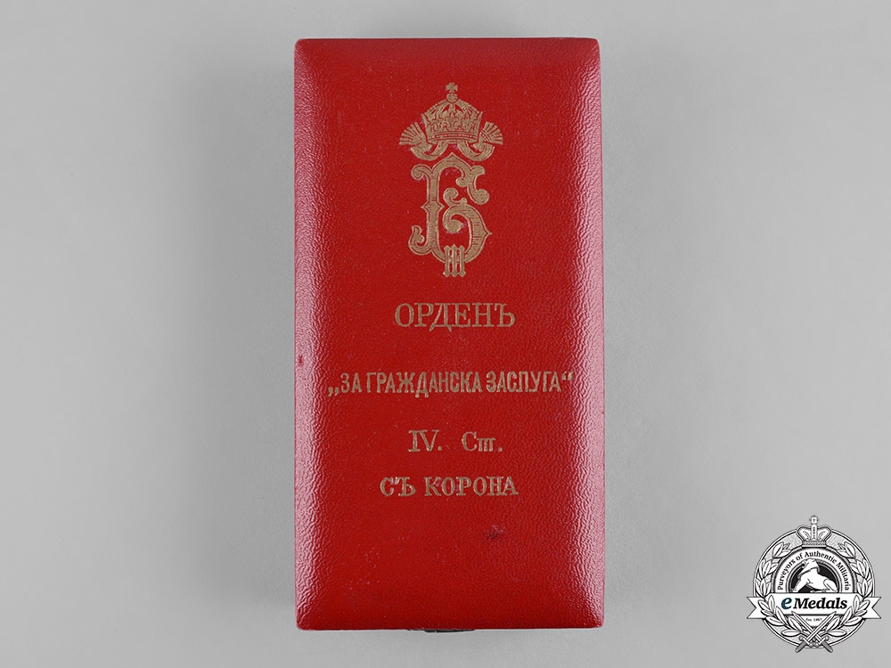 eMedals-Bulgaria, Kingdom. A National Order for Civil Merit, IV Class Officer with Imperial Crown (1908-1944) Case