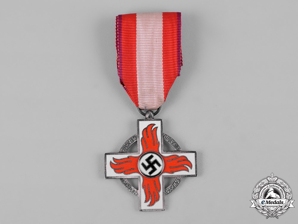 eMedals-Germany, Third Reich. A Fire Brigade Service Cross, II Class