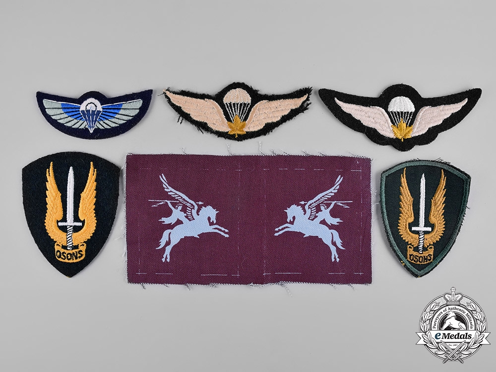 eMedals-Canada, United Kingdom. A Lot of Six Armed Forces Badges