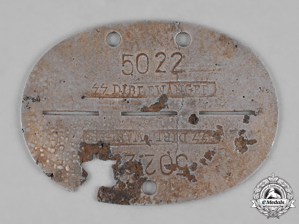 eMedals-Germany, SS. A Dirlewanger Brigade Identification Tag