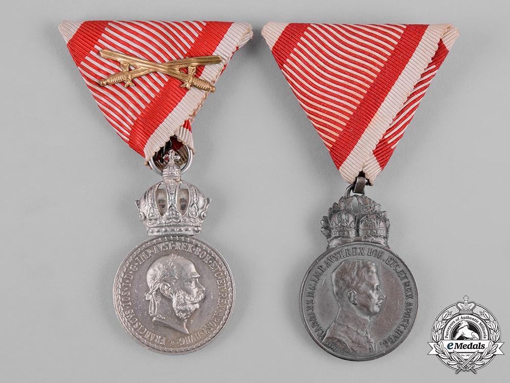eMedals-Austria, Imperial. A Pair of Imperial Austrian Medals