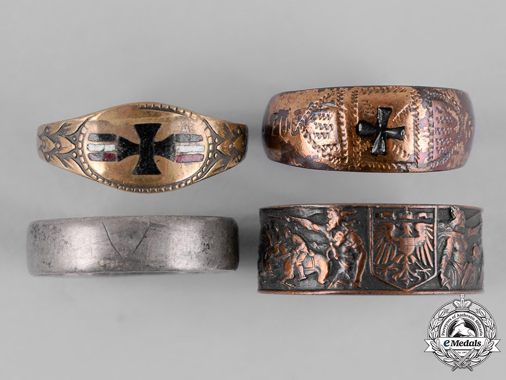 eMedals-Germany, Imperial. A Lot of First War Period Army Rings