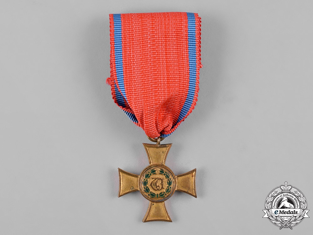 eMedals-Württemberg, Kingdom. A Long Service Decoration, I Class Gold Cross for Officer