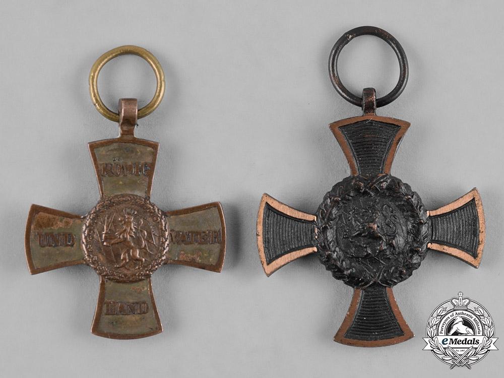 eMedals-Bavaria, Kingdom. A Pair of Bavarian Commemorative Campaign Crosses