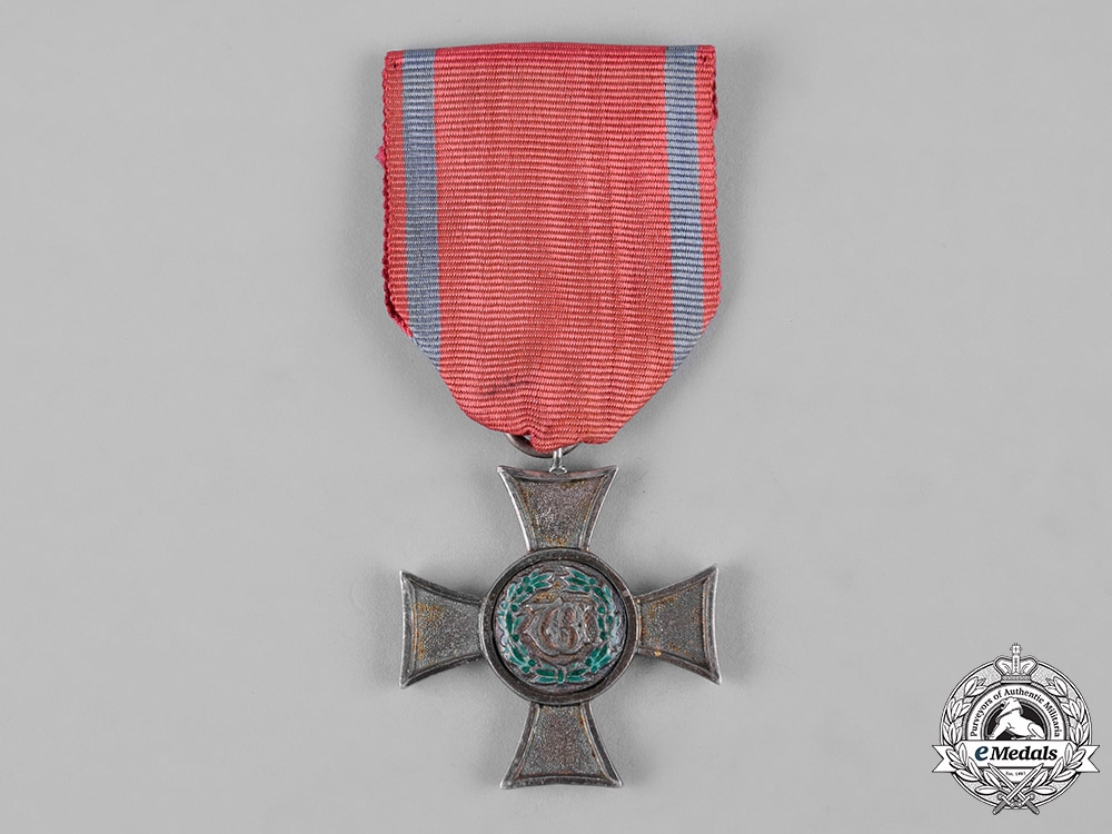 eMedals-Württemberg, Kingdom. A 21-Year Long and Devoted Service Cross, II Class