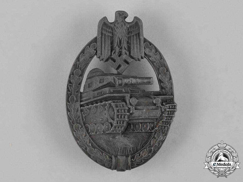 eMedals-Germany, Wehrmacht. A Panzer Assault Badge, Bronze Grade, by Hermann Aurich