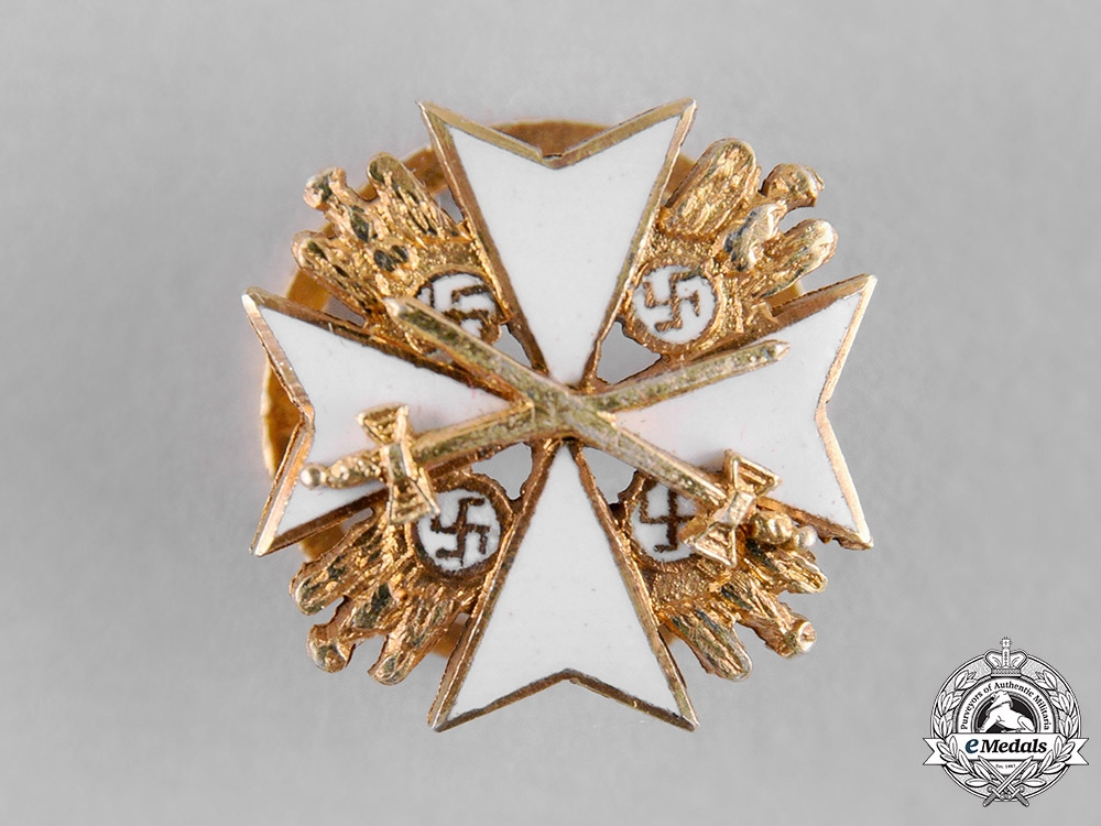 eMedals-Germany, Third Reich. An Order of the German Eagle with Swords, Miniature Star