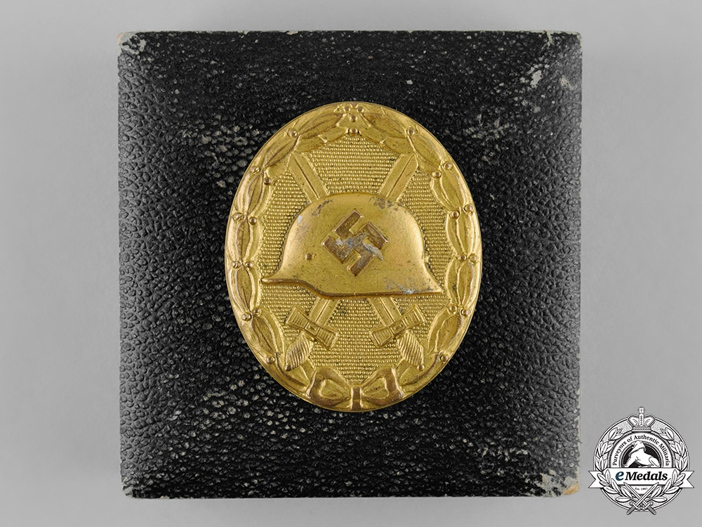 eMedals-Germany, Wehrmacht. A Wound Badge, Gold Grade, with Case