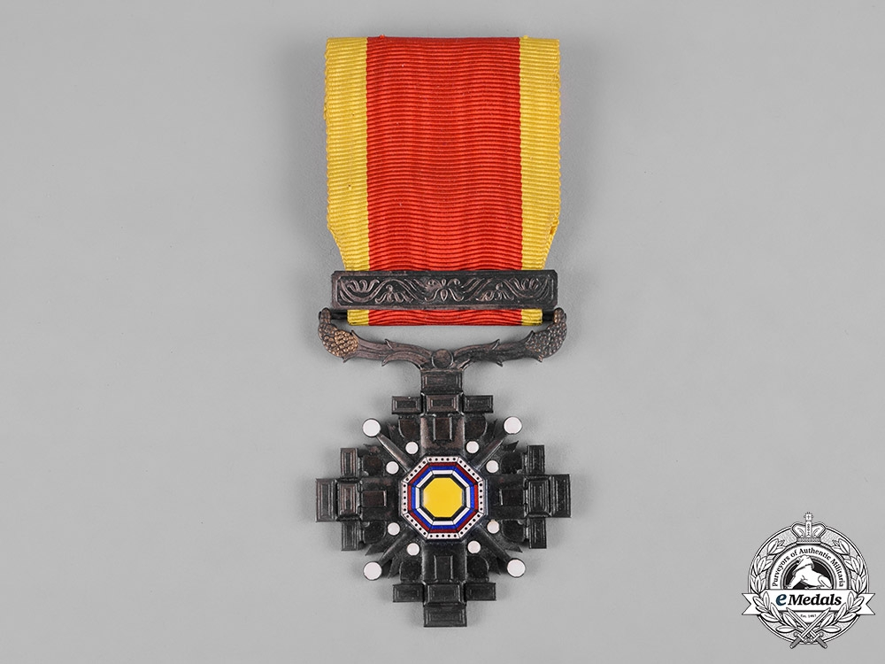 eMedals-China, Manchukuo, Japanese Occupation. An Order of the Pillars of State, VIII Class, c.1940