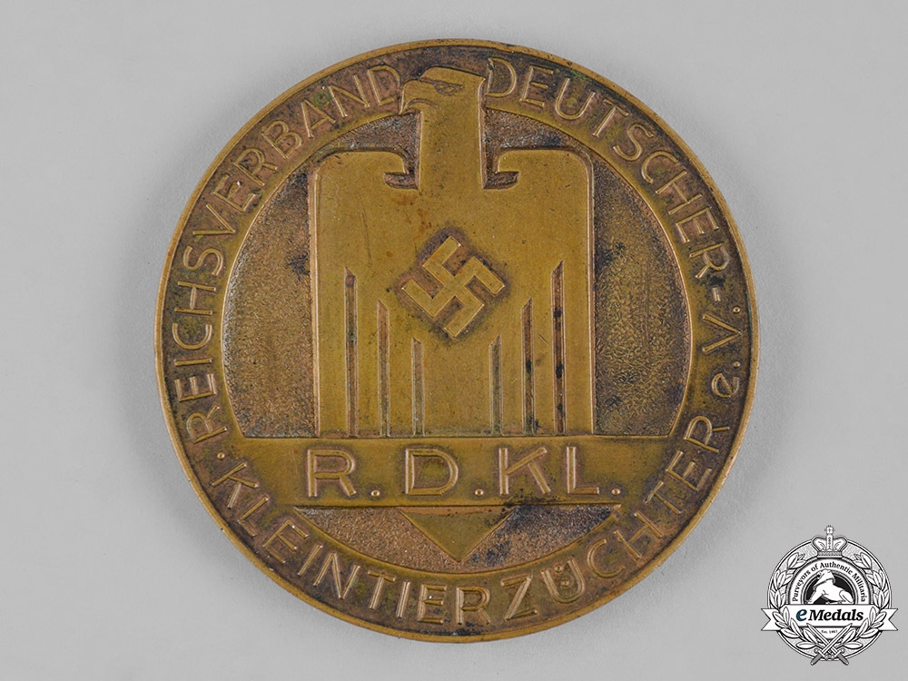 eMedals-Germany, RDKL. A Reich Association of German Small Animal Breeder Merit Medal