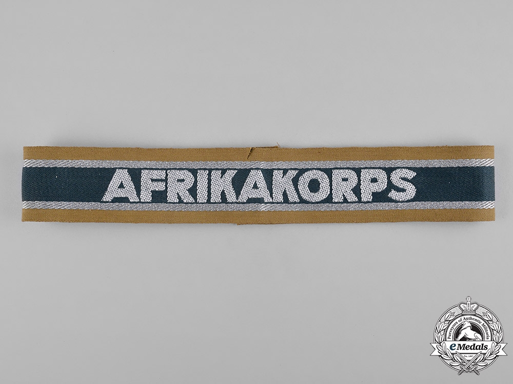 eMedals-Germany, Heer. An Army Issued Afrika Korps Cuff Title