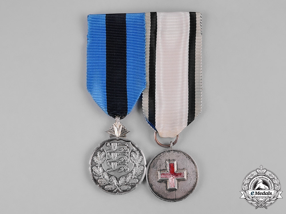 eMedals-Estonia, Republic. A Pair of Silver Medals